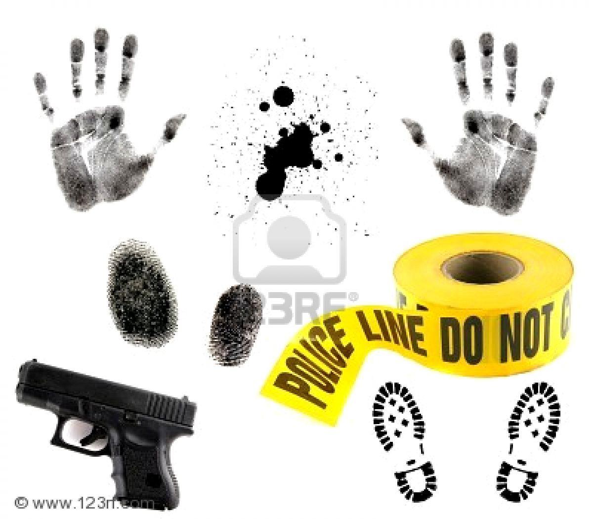 Crime Scene Investigation Clipart.