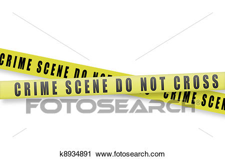 Crime scene tape Clip Art.
