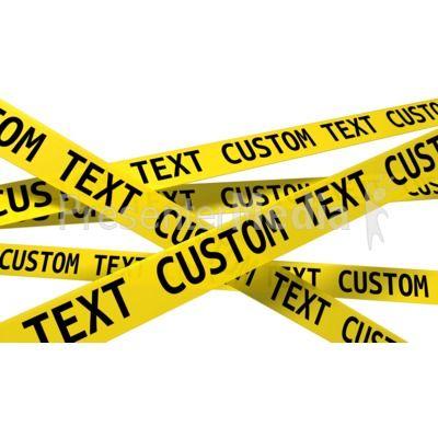 Custom Wall Of Crime Scene Tape PowerPoint Clip Art.