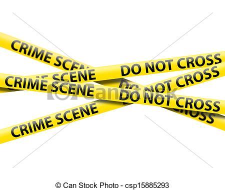 crime scene tape.