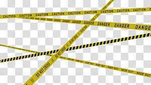 Crime scene do not cross, , Police tape transparent background PNG.