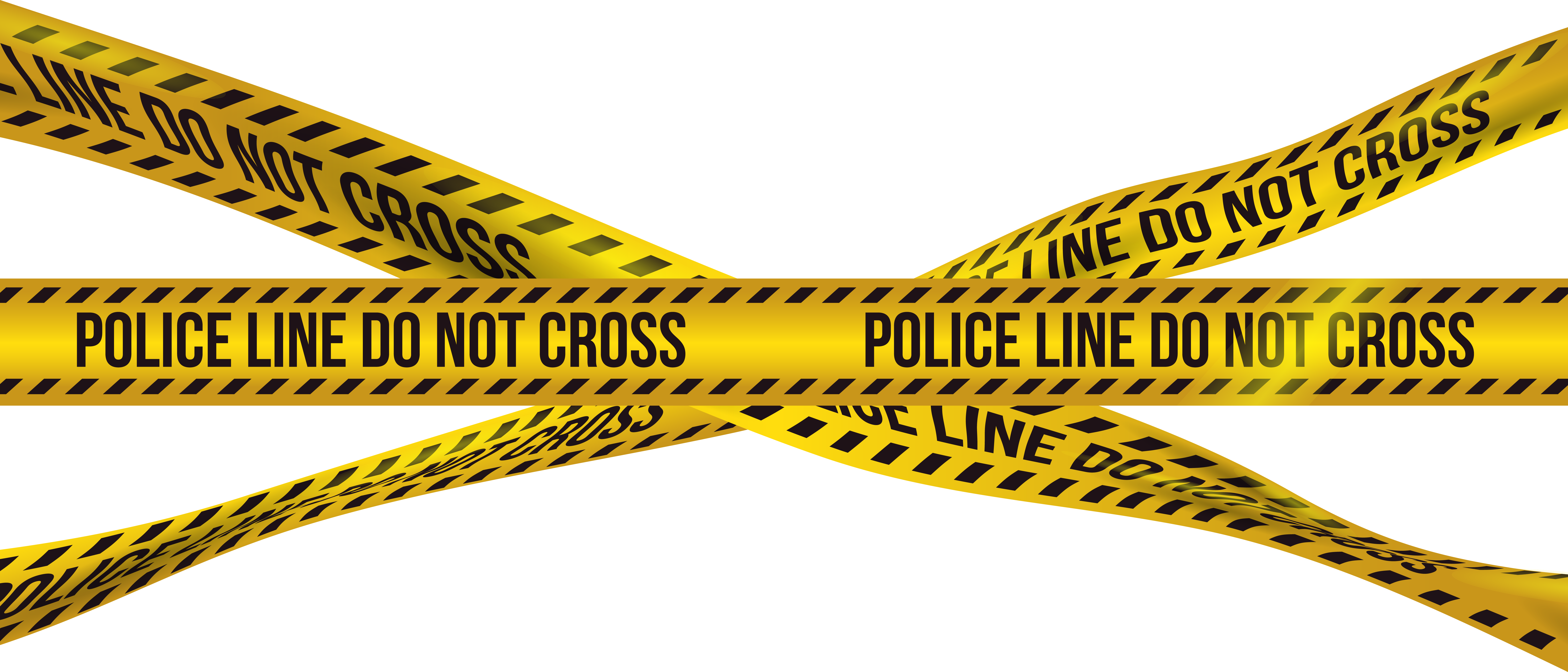 Police Barricade Crime Tape PNG Clip Art Image.