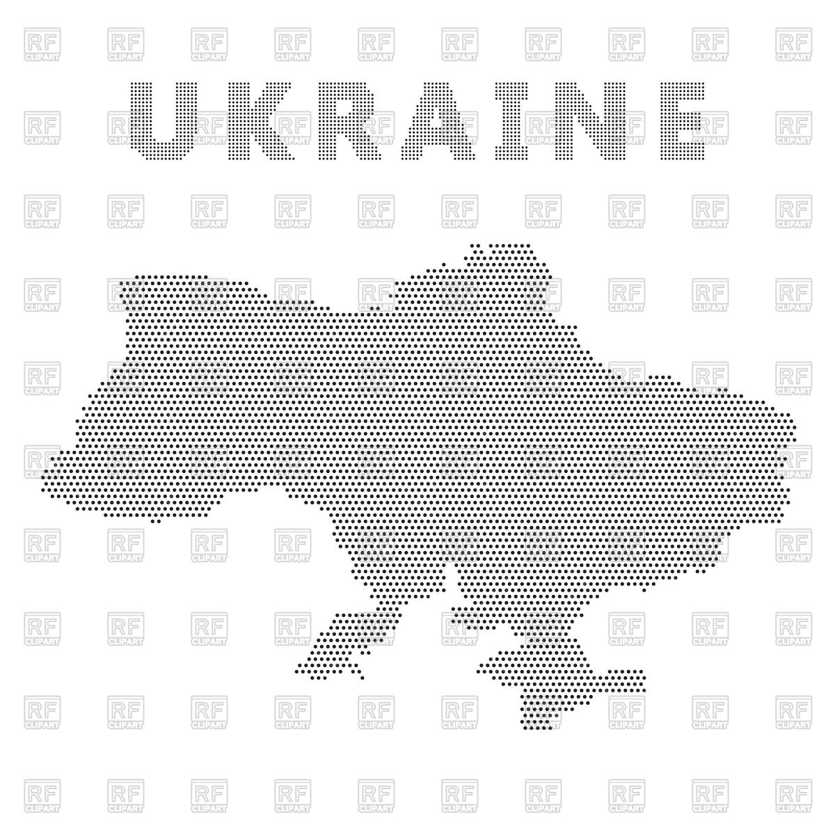 Dotted Ukrainian map with Crimea Vector Image #62864.