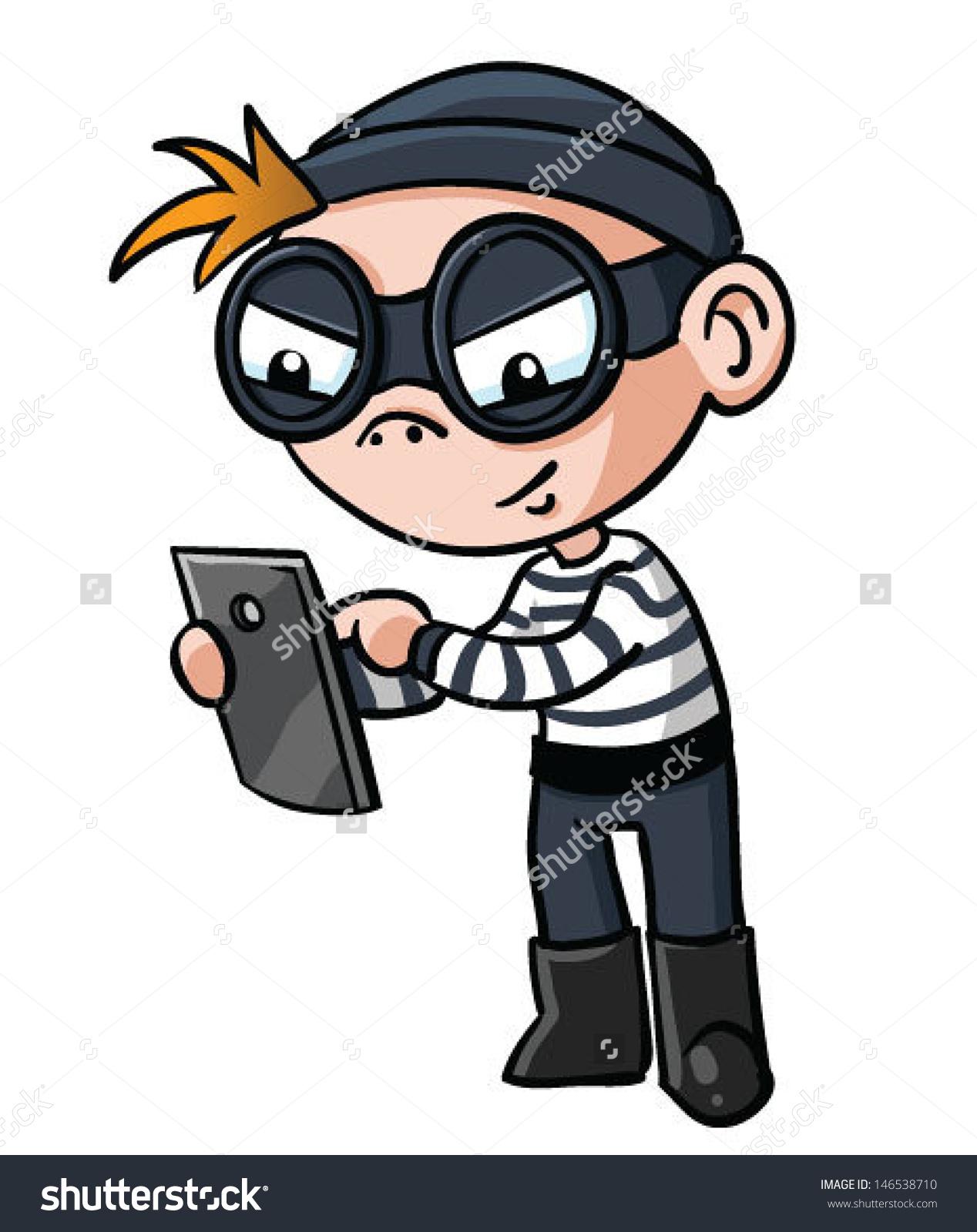 Cyber criminal clipart.