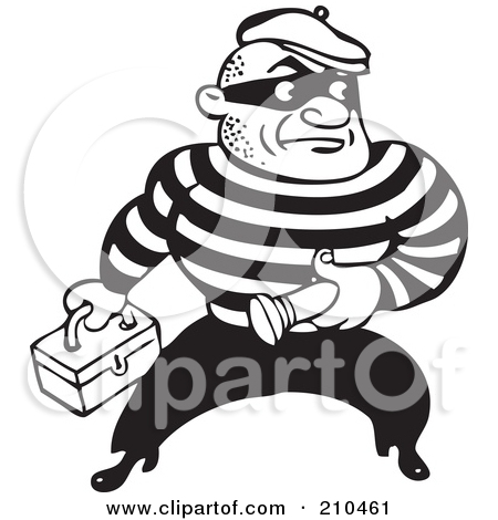Criminal Clipart Black And White.
