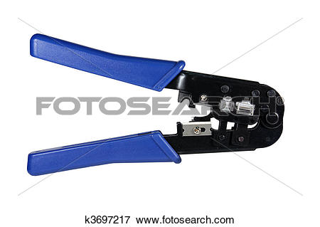 Picture of network crimp tool isolated k3697217.