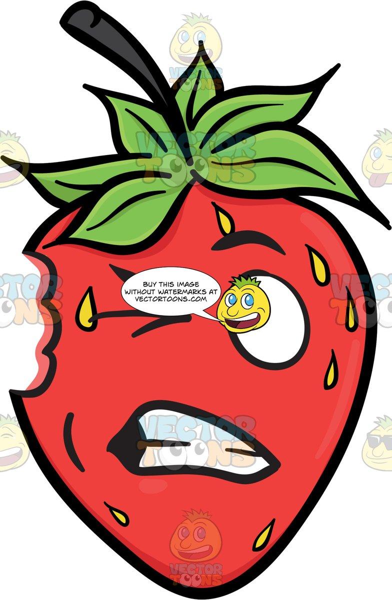 A Cringing Strawberry Fruit.