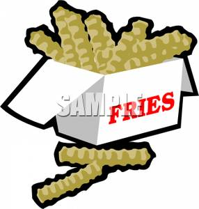 Crinkle fries clipart.