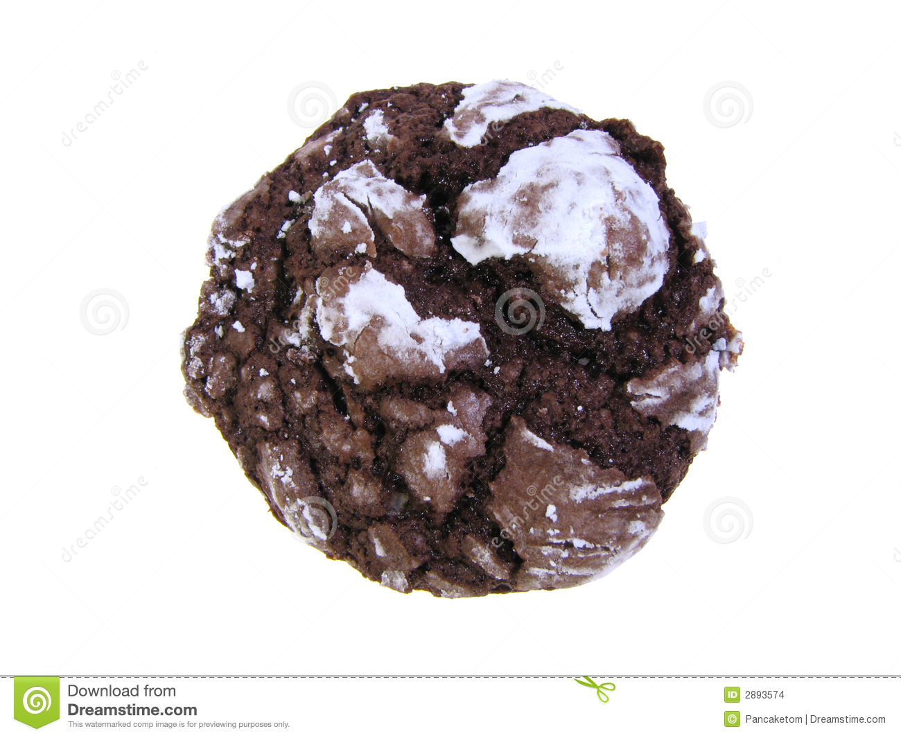 Chocolate Crinkle Cookie Stock Images.