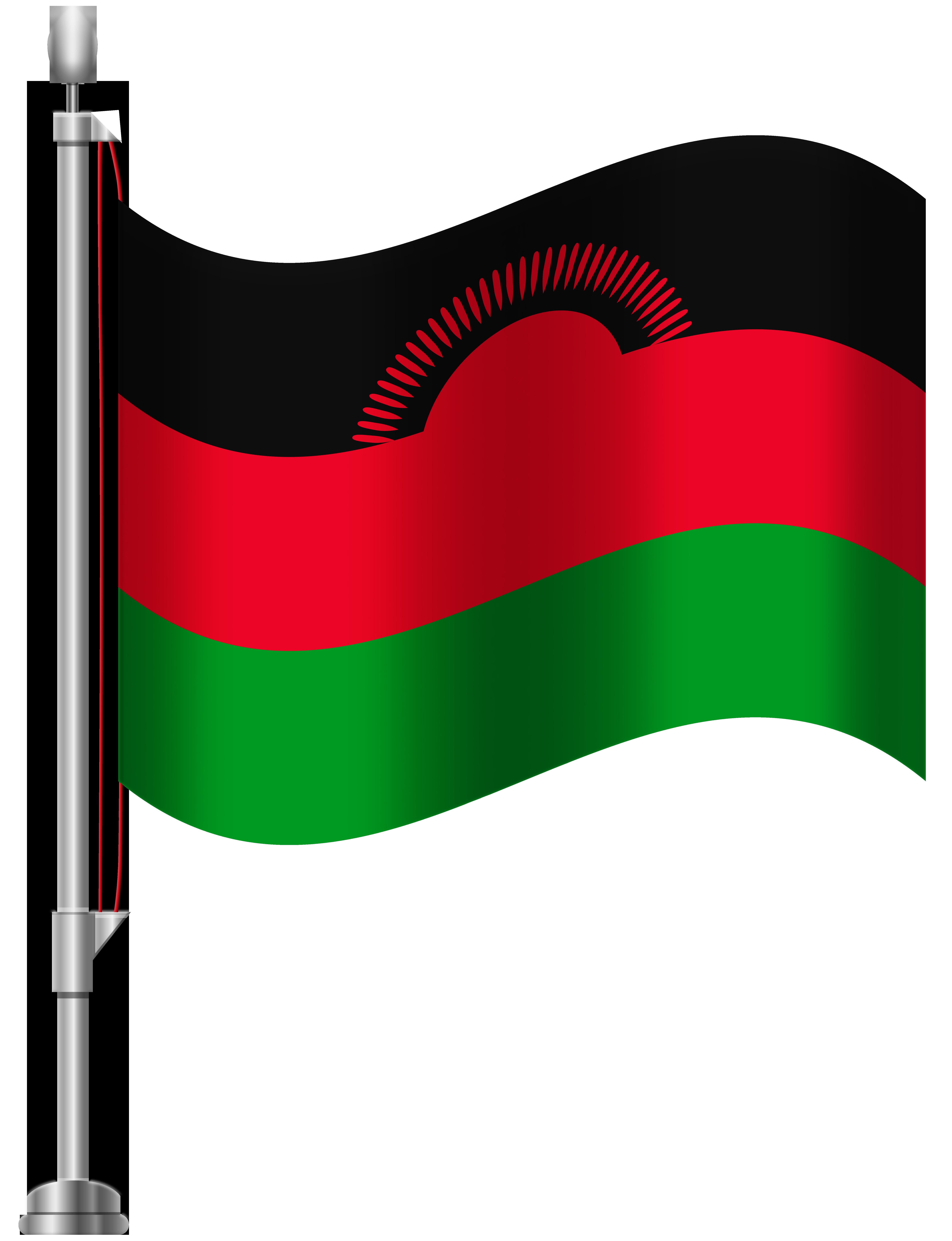 Malawi Flag PNG Clip Art.