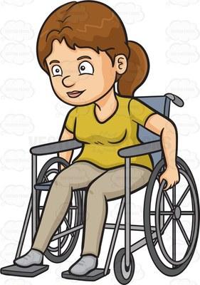 crippled Cartoon Clipart.