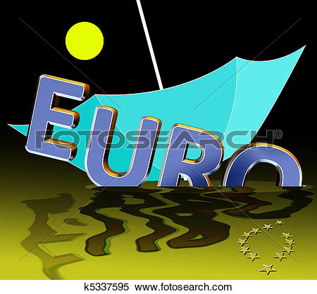 Stock Illustration of Euro crises k5337595.