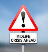 Stock Illustration of midlife crisis k13175749.