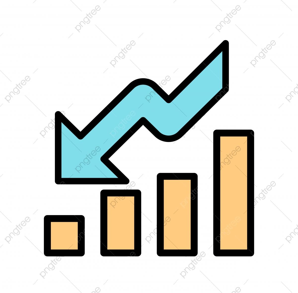 Crisis Icon, Crisis, Recession, Down Fall PNG and Vector with.