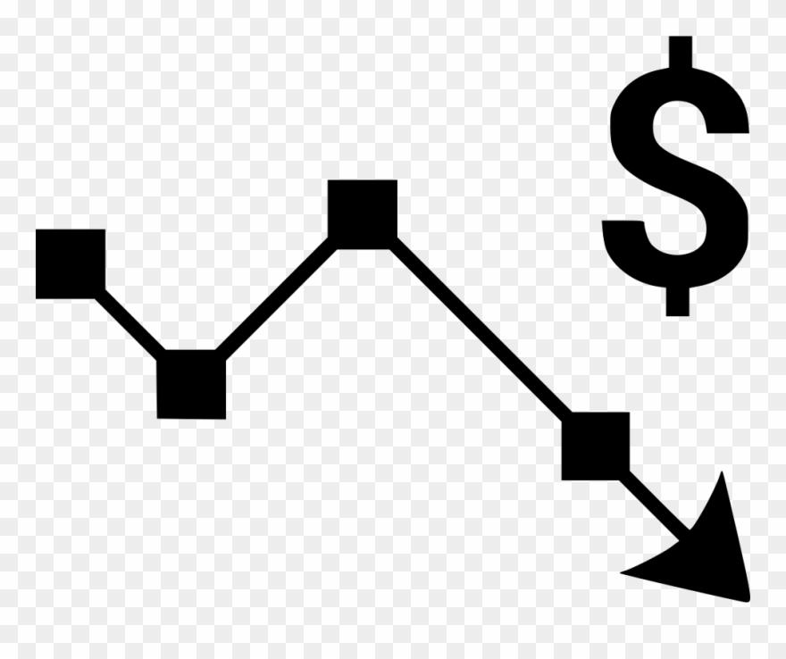 Economic Down Crisis Svg Png Icon Free.