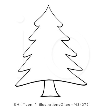 Christmas Tree Clip Art Free Black And White.