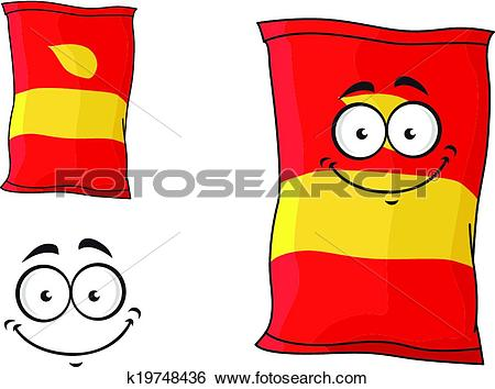 Clip Art of Packet of chips or crisps k19748436.
