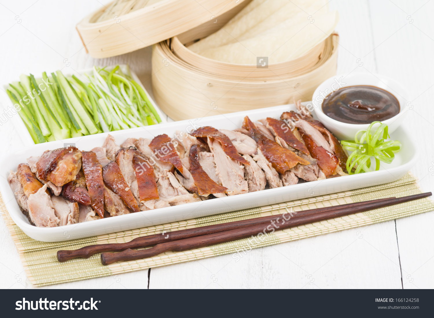 Peking Duck Chinese Roast Crispy Duck Stock Photo 166124258.