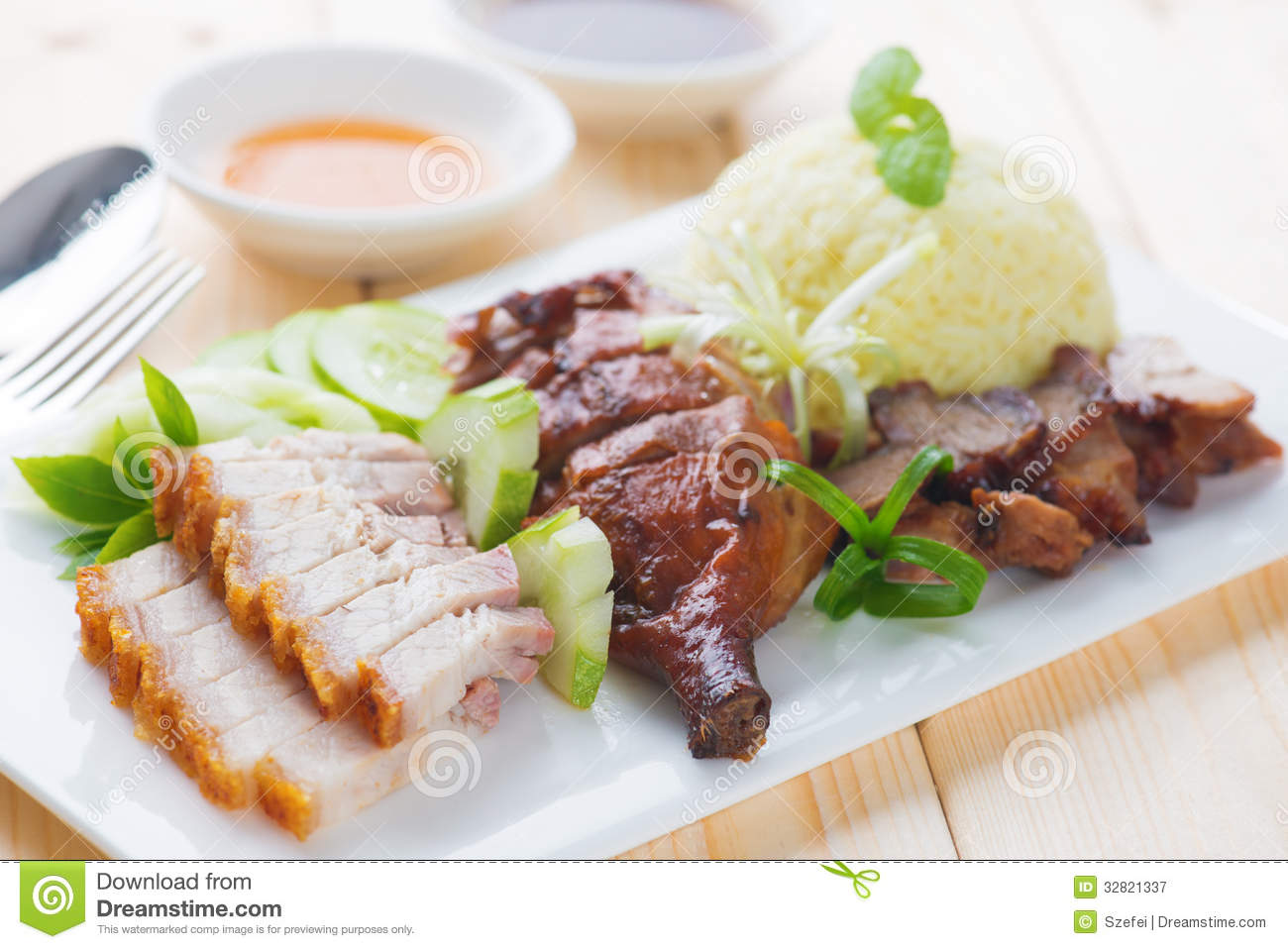 Chinese Crispy Duck And Yams Royalty Free Stock Images.
