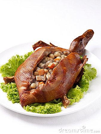 Stuffed Roast Duck Stock Photography.