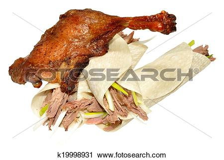 Stock Photography of Chinese Crispy Duck And Pancakes k19998931.