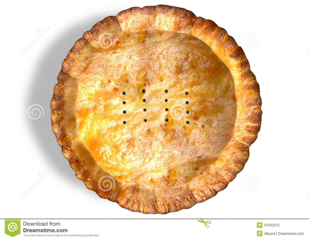 Golden Crispy Pastry Pie Top Stock Photography.