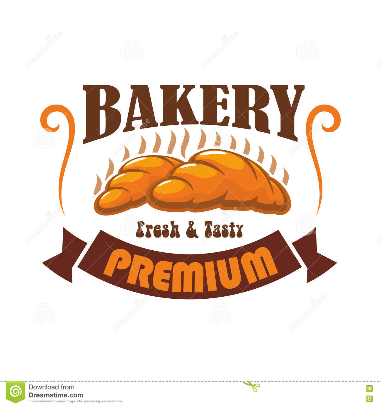 Bakery Shop, Pastry Cafe Vector Label Emblem Stock Vector.