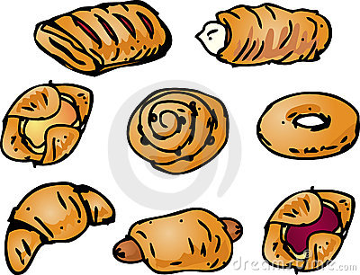 Tasty Pastries Royalty Free Stock Photo.