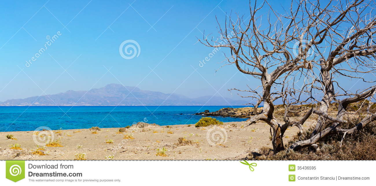 Amazing Beach Of Chrissi Island, Near Crete, Greece Royalty Free.