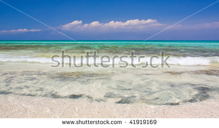 Gorgeous Beach Of Chrissi Island, Crete, Greece, Europe Stock.