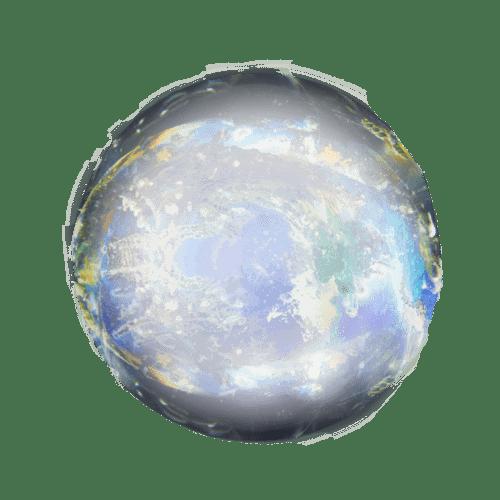 Boule de cristal transparente PNG transparents.