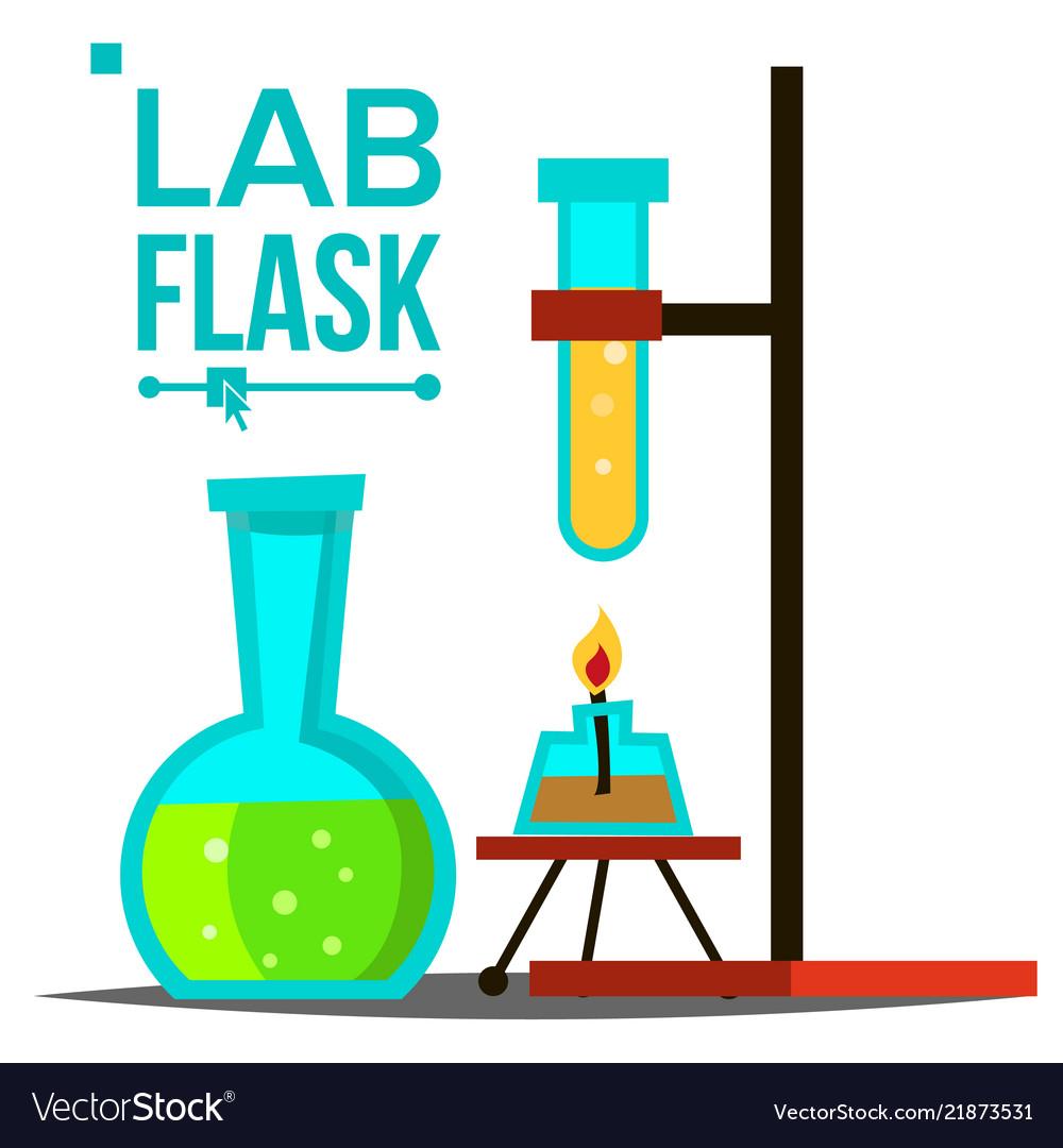 Laboratory flask chemical laboratory.