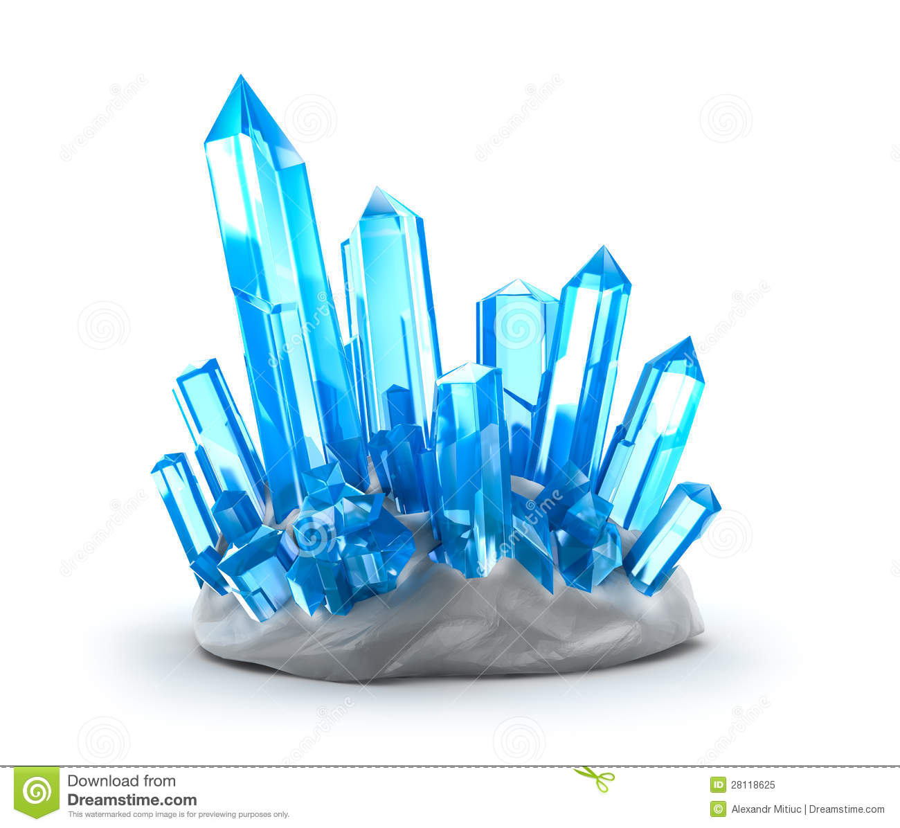 Growing Crystals Clipart.