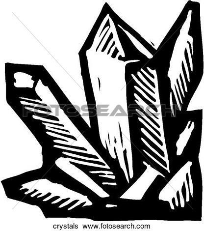 Clip Art of Crystals crystals.