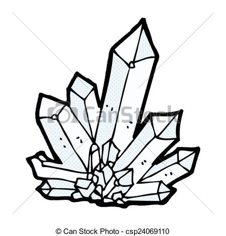 Vector Clip Art of comic cartoon crystals.