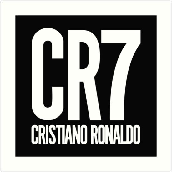 \'CR7 logo Cristiano Ronaldo\' Art Print by davidmantri.
