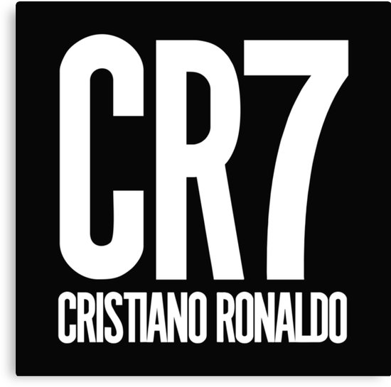 \'CR7 logo Cristiano Ronaldo\' Canvas Print by davidmantri.