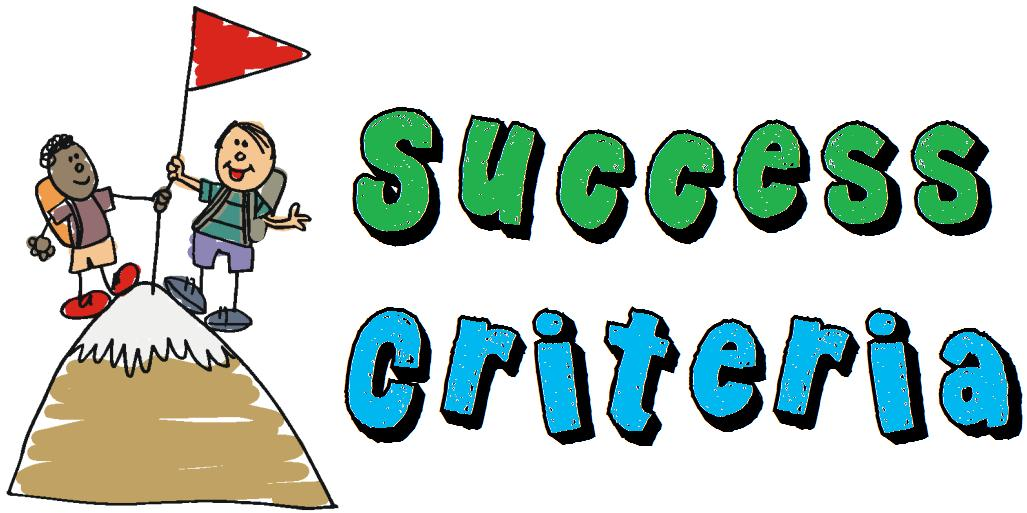 Success Criteria Clipart.