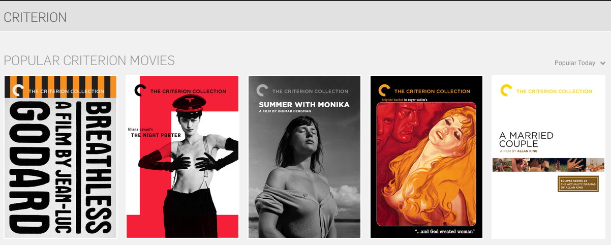 Watch free Criterion movies on Hulu this weekend.