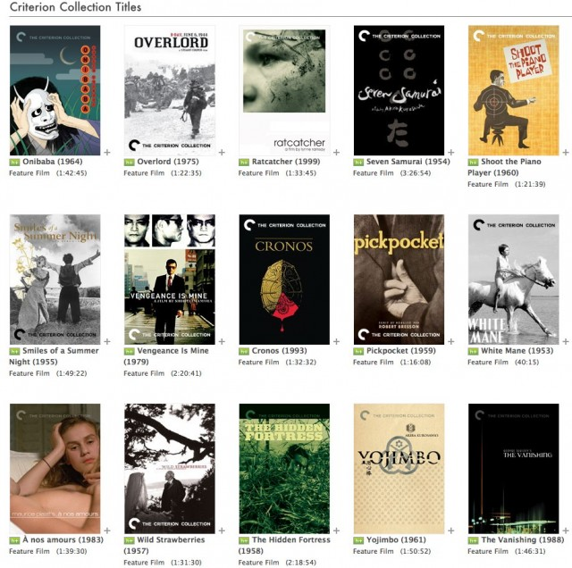Criterion Collection Films Available On Hulu Plus.