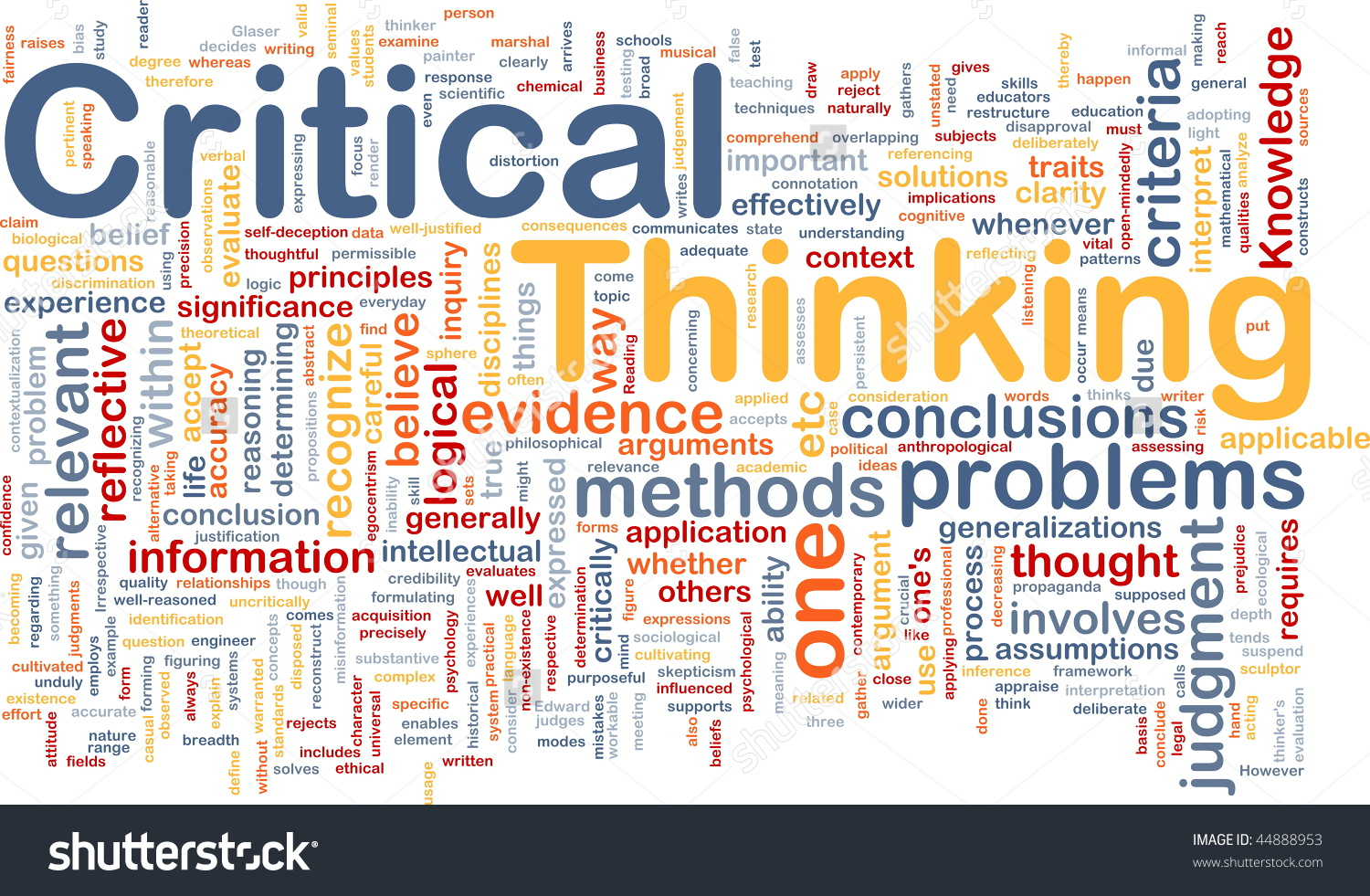 Background Concept Wordcloud Illustration Critical Thinking Stock.