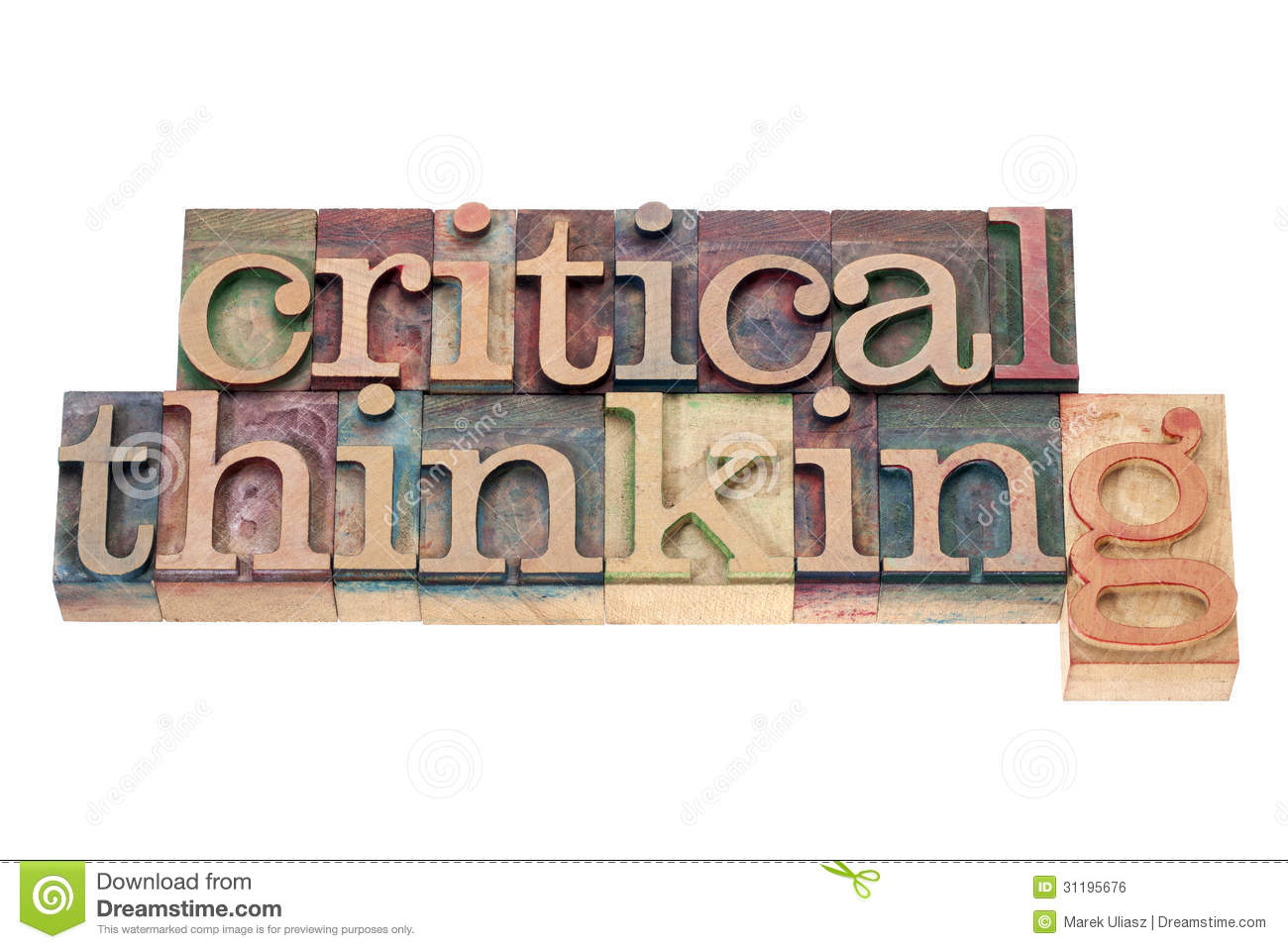 Critical Thinking Clip Art.