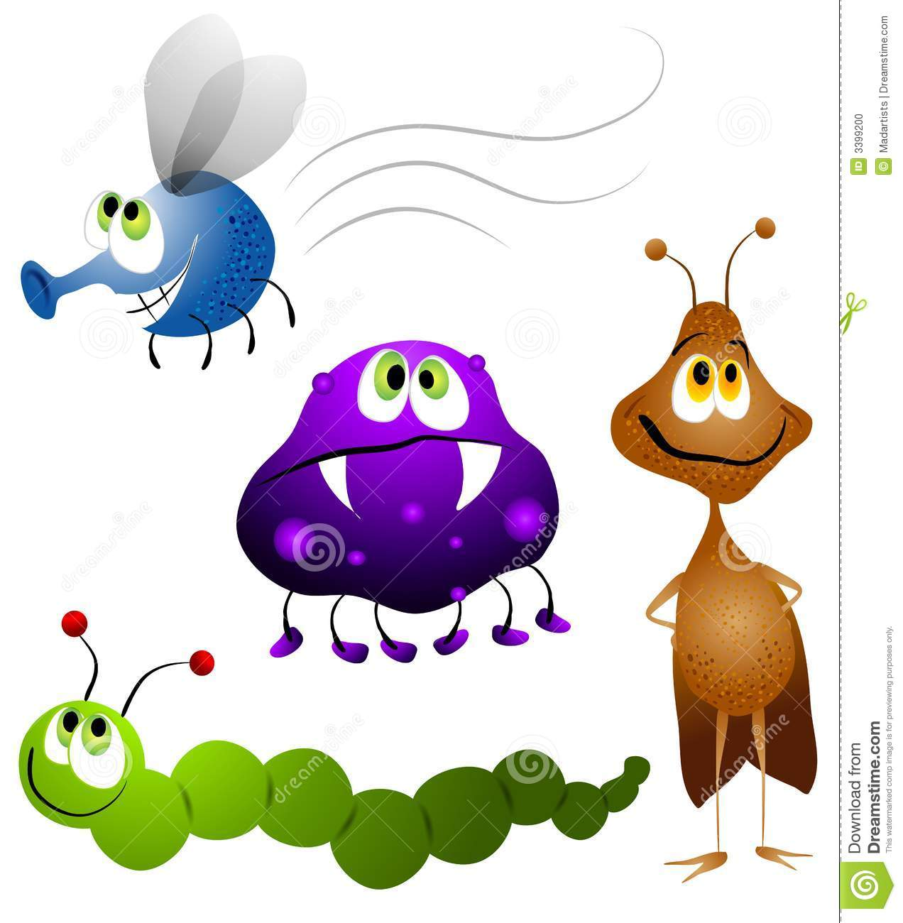 Group Of Critters Clipart.