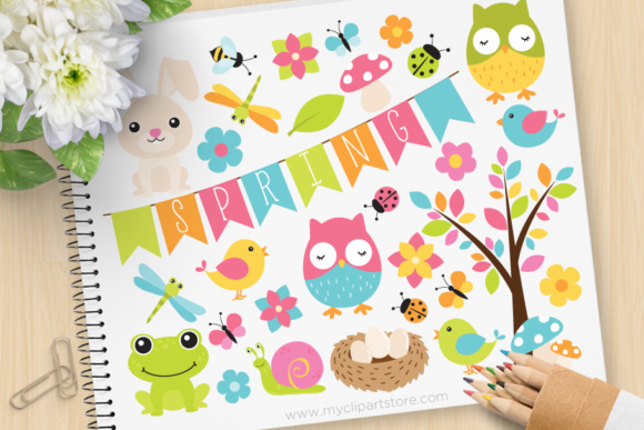 Spring Critters Clipart.