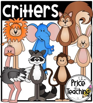 Critters (The Price of Teaching Clipart Set).