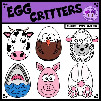 Egg Critters Clipart.