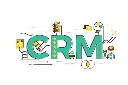 CRM : Customer relationship management Clipart Image.