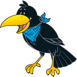 1495 Crow free clipart.