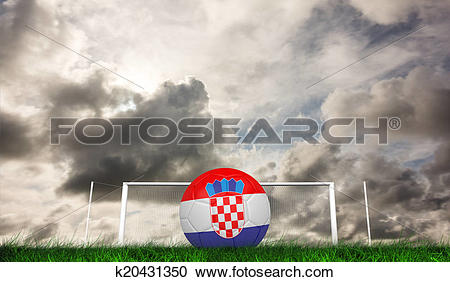 Stock Illustrations of Composite image of football in croa.