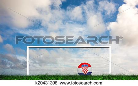 Stock Illustration of Composite image of football in croa.